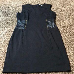 Calvin Klein size 12 dress black gold